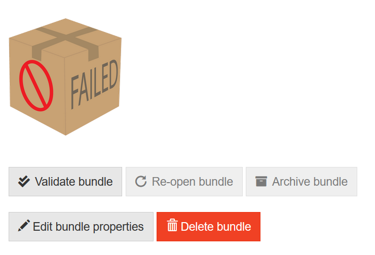Bundle overview failed Bundle