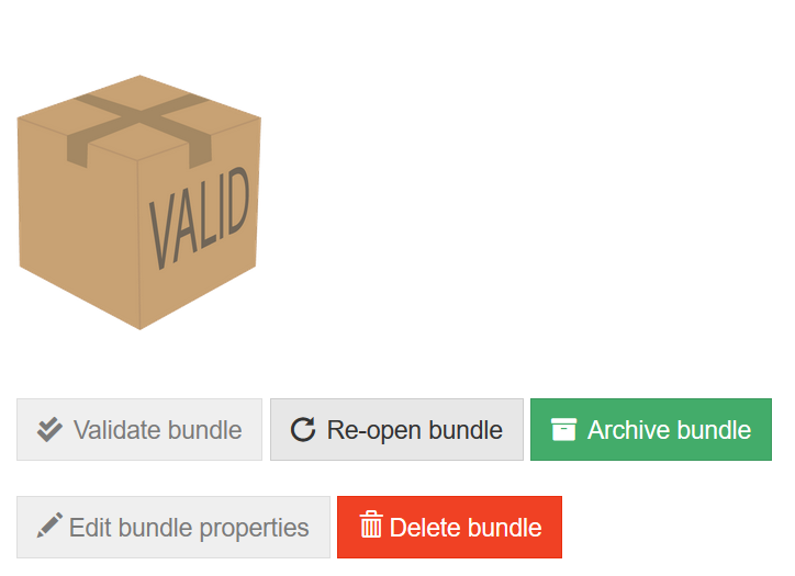 Bundle overview ready for archiving