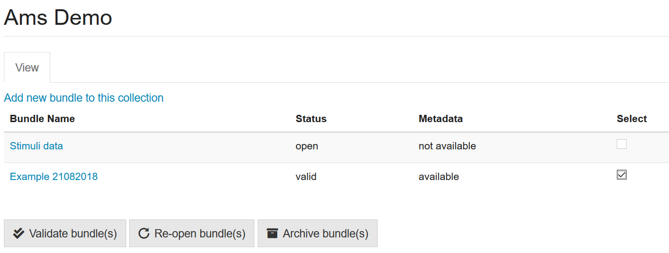 Archive multiple Bundles via 'My Collections'