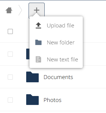Add folder in Nextcloud